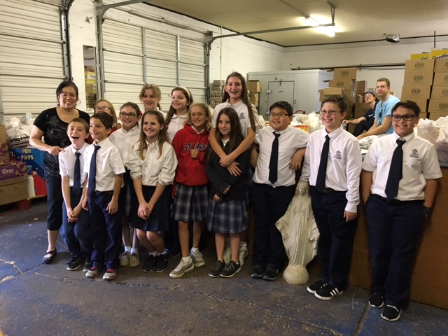 5th grade delivered food to St. Catherine's food bank in Durant.