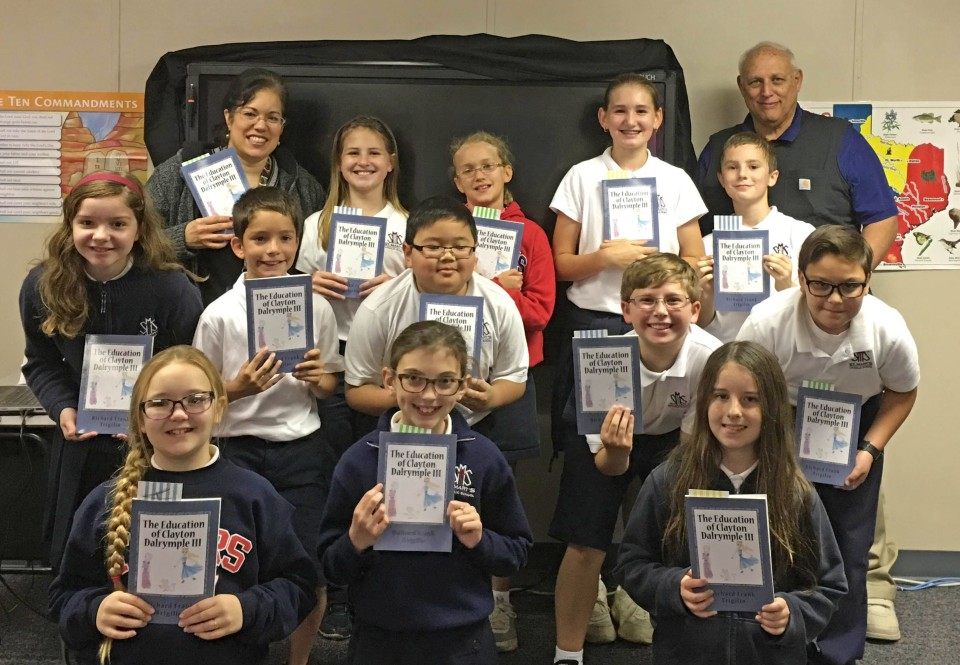"4th & 5th Graders were visited by Richard Trigilio, author of the book ""The Education of Clayton Dalrymple III"""