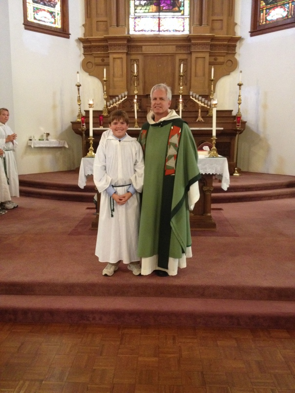 New altar server Phillip H.