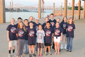 Team on the Ohio River Edge