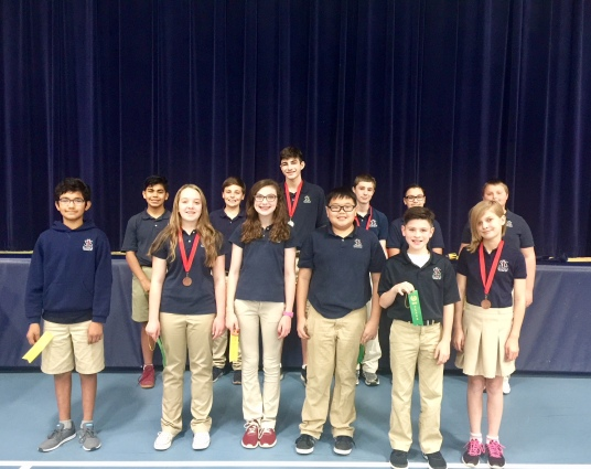 Ribbon Winners at the NTIL Academic Competition