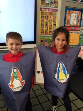 First graders celebrated the feast day of Juan Diego and our Lady of Guadalupe.